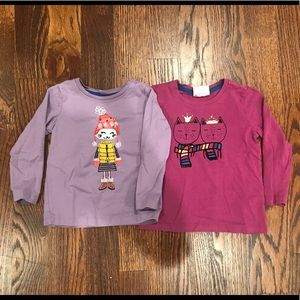 Other - Set of 2 Hanna Andersson long sleeve tees